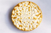 A round cracker (label: Carrs Table Water)