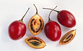 Tamarillos, whole halved and two quarters