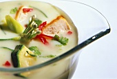 Creamed Chicken Soup with Assorted Vegetables
