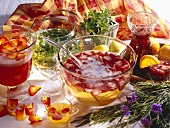 Rose punch, May wine, strawberry punch & sangria