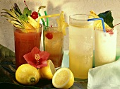 Planters Punch, Singapore Sling, Gin Fizz & Pina Colada
