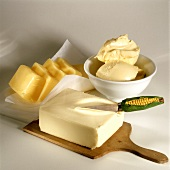 Various spreads; butter, margarine