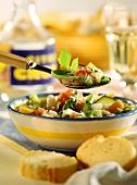 Minestrone della nonna (Vegetable stew with lovage)