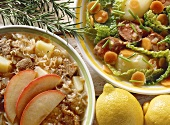 Sauerkraut & apple stew with lamb & savoy and lamb stew