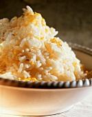 Pilaw: long-grain rice with lemon peel and pepper