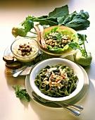 Three kohlrabi dishes: salad, soup, ragout