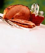 Partially Sliced Ham