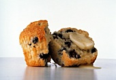 Butter Melting on A Blueberry Muffin