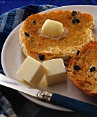 Blueberry English Muffin with Butter