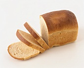 Toasting bread with three slices cut
