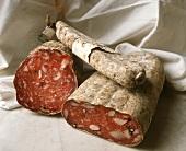 Italian salami in various forms