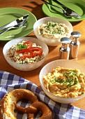 Spreads: Liptauer, Körözött (pepper spread) & obatzter; pretzel