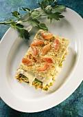 Lasagne von Havelfischen und Gartengemüse in Basilikumsauce