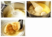 Making Dampfnudel (yeast rolls) with custard