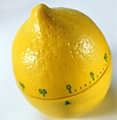 Kitchen timer in the shape of a lemon