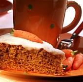 A piece of carrot cake  (Switzerland)