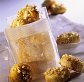 Marzipan biscuits with chopped almonds