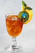 Mai Tai cocktail with rum and Curacao