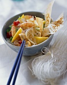 Fruity glass noodle salad with mango and shrimps