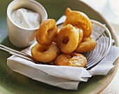 Hearty chili calamares with dip