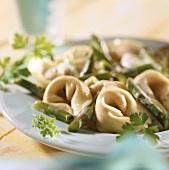 Tortellini agli asparagi (Tortellini with asparagus, Italy)