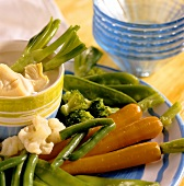 Vegetable platter with light aioli
