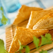 Chinese puff pastries with savoury filling