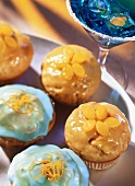 Peach liqueur muffins and curacao and orange muffins