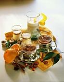 Raisin & hazelnut Gloegg, spiced and sea buckthorn & nut milk