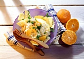 Sauerkraut salad with pineapple and mandarin oranges