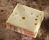 A piece of Swiss Emmental cheese