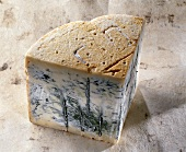 Gorgonzola on light-brown background