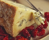 Stilton cheese with dried cranberries