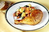 Italian chicken leg with mixed vegetables