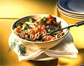 Spaghetti alla zucca (Spaghetti with pumpkin ragout, Italy)