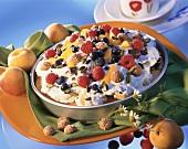 Torta con la frutta (sponge cake with cassata cream & fruit)