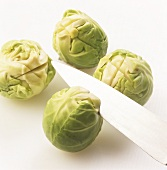 Cutting a cross into Brussels sprouts