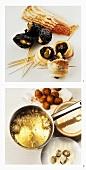 Making olive tapas