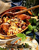 Cassoulet with goose legs, swedes and white beans