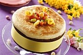 Whole Easter cake with marzipan (Simnel cake) from England