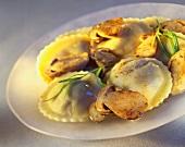 Ravioli col tartufo ai porcini (Ravioli with truffles & ceps)