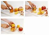 Orangen und Grapefruits filetieren