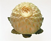 Flower carved from a sugar melon