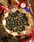 Blueberry pie for the 4th of July