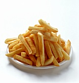 Chips on white plate