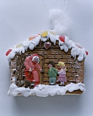 Gingerbread house with fairytale figures