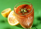 Tomato smoothie with ginger & celery (Ginger and Fred)