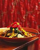Insalata di verdure (Grilled vegetable salad)