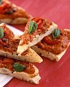 Pizza rossa (Pizza mit Tomatensauce & Paprika, Italien)