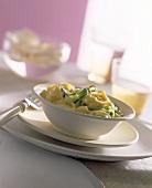 Tagliatelle all'arancia (Pasta with orange sauce & courgettes)